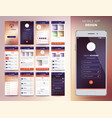 smartphone application templates vector image vector image