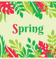 spring - concept poster with vector image vector image