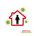 stop corona virus covid-19 pandemic world vector image vector image