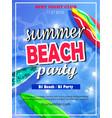 Summer beach party template
