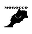 symbol of morocco and map vector image vector image