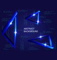 triangle metal sparkle on background vector image