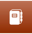 web button Flat design with shadow vector image vector image
