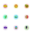 Web messages icons set pop-art style vector image vector image