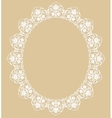 White oval frame vector image