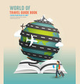World travel design open book guide concept vector image vector image