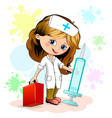 little girl nurse vector image