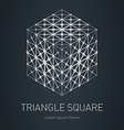 3d cube with low-poly mesh Modern stylish logo vector image