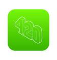 420 cannabis smoking time icon green vector image