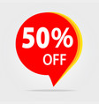 50 off discount sticker sale red tag isolated vector image