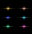 Abstract beam Light set vector image vector image