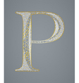 Abstract golden letter P vector image vector image