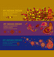 abstract indian journey horizontal banners vector image