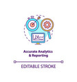 accurate analytics and reporting concept icon