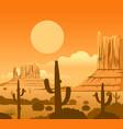 america wild west desert landscape vector image vector image