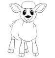 animal outline for little lamb vector image vector image
