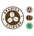 arabica stamp with distress texture