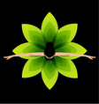 Ballet dancer top view vector image vector image