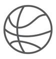 basketball ball line icon game and sport vector image vector image