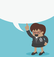 big boss business woman with speech bubbles vector image vector image