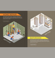builders repair isometric composition vector image vector image