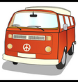 campervan vector image
