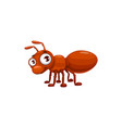cartoon ant icon funny emmet cute insect vector image