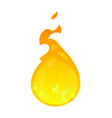 cartoon flame icon isolated on white background vector image vector image