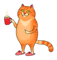 cat cup vector image vector image