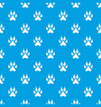 cat paw pattern seamless blue vector image vector image