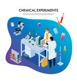 chemical experiments isometric vector image vector image