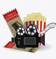 Cinema design vector image vector image