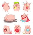 collection of cute pigs vector image