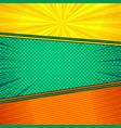 comic elegant bright composition vector image vector image