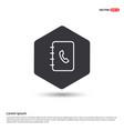 contact book icon vector image vector image