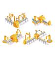 conveyor system isometric design concept vector image