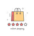 creative of red and yellow cartoon shopping bag vector image
