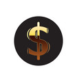 dollar round emblem vector image