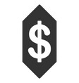 dollar ticket flat icon vector image vector image