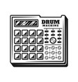 drum machine music producer equipment vector image vector image