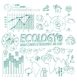 Ecology Doodle Infographic Elements vector image vector image