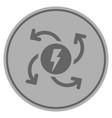 electric generator silver coin vector image vector image