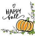 fall autumn greeting card vector image