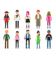 fashioned hipsters alternative funny characters vector image vector image