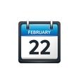 February 22 Calendar icon vector image vector image