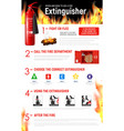 fire extinguister infographic tips vector image