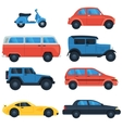 Flat car icon set vector image vector image