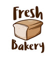 fresh home made bakery loaf icon logo vector image