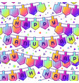 happy hanukkah celebration seamless pattern with vector image