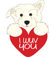 I Wuv You Dog vector image vector image